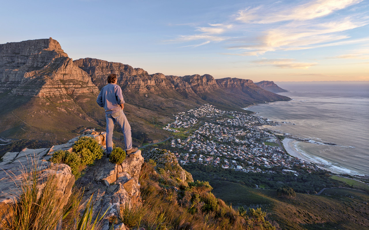 View over Camps Bay from Lion�s Head